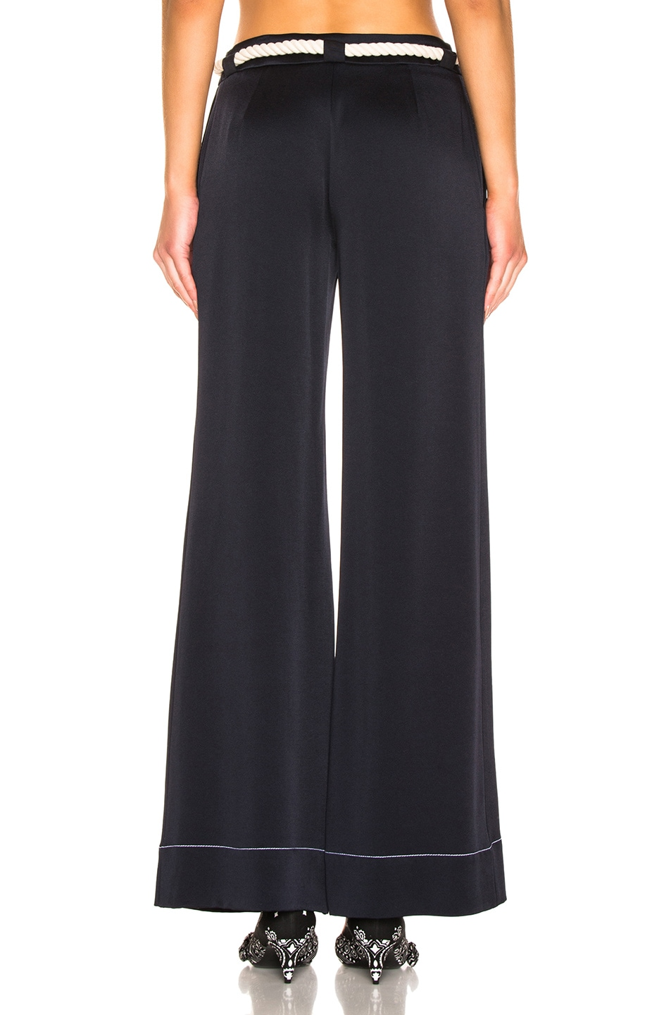 Image 3 of Monse Wide Leg Trouser in Navy