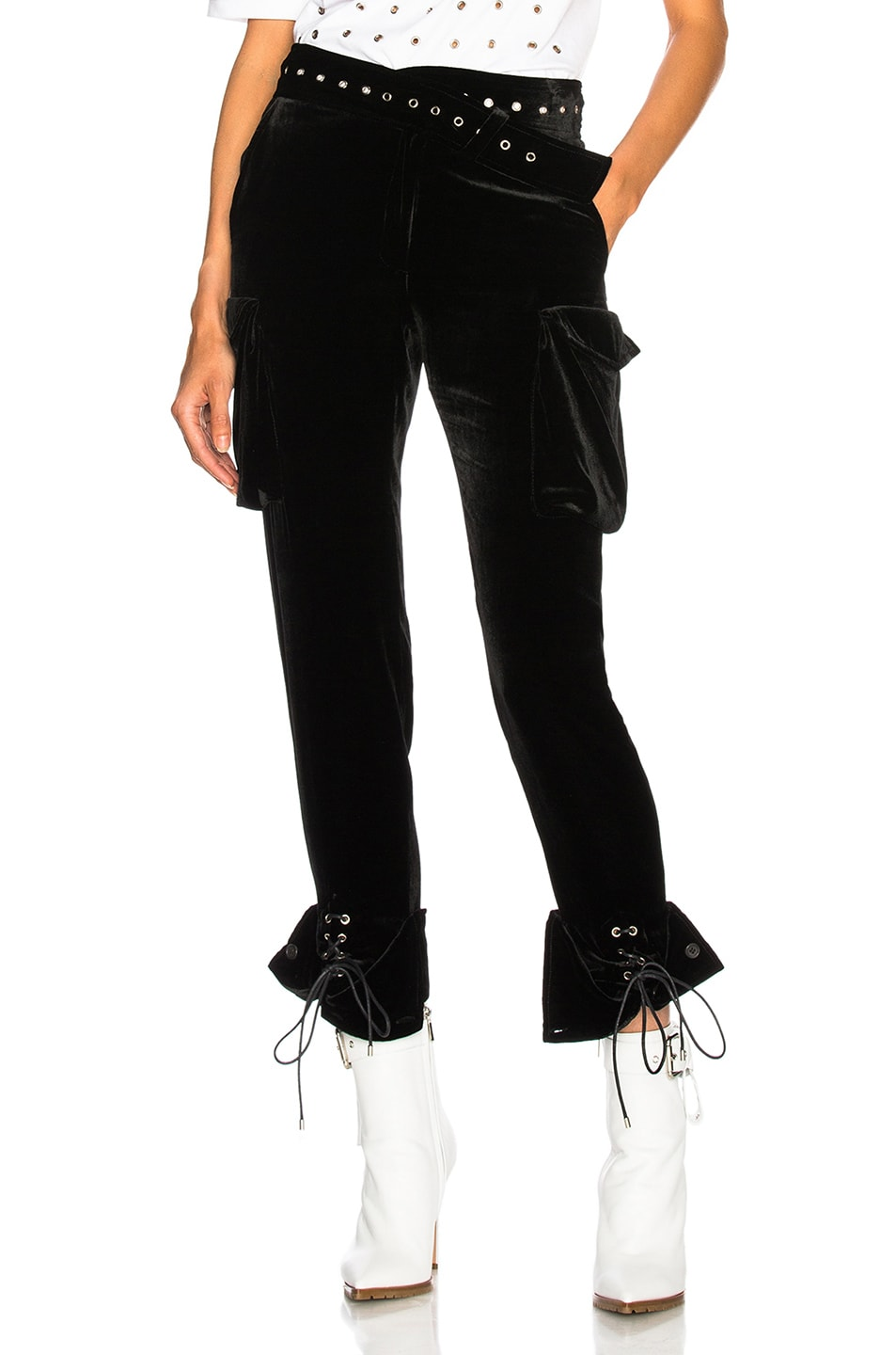 Image 1 of Monse Velvet Cargo Pant in Black