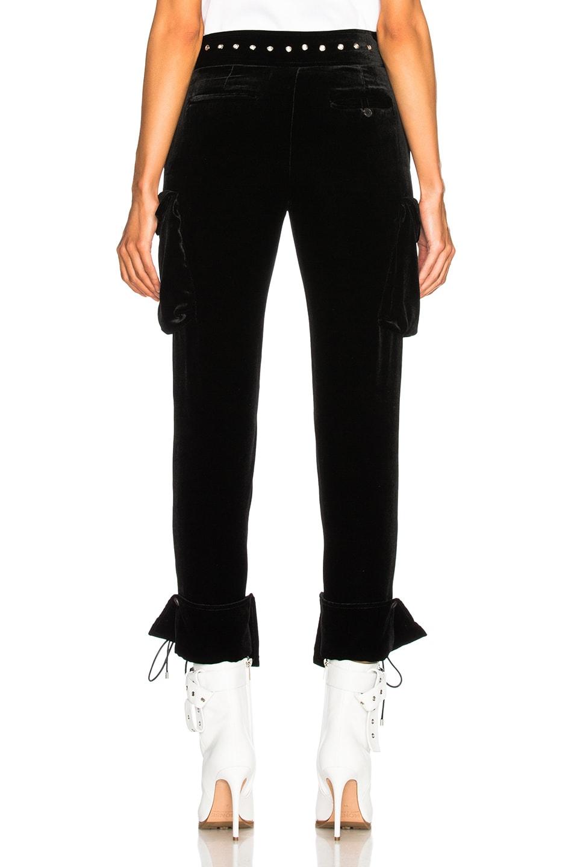 Image 4 of Monse Velvet Cargo Pant in Black