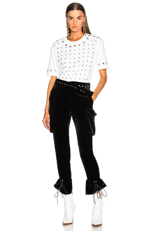 Image 5 of Monse Velvet Cargo Pant in Black