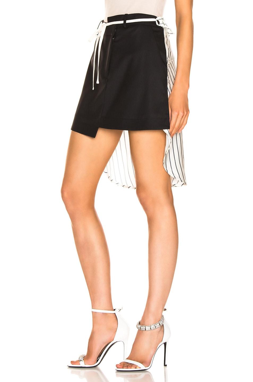 Image 3 of Monse Shirt Back Skirt in Black