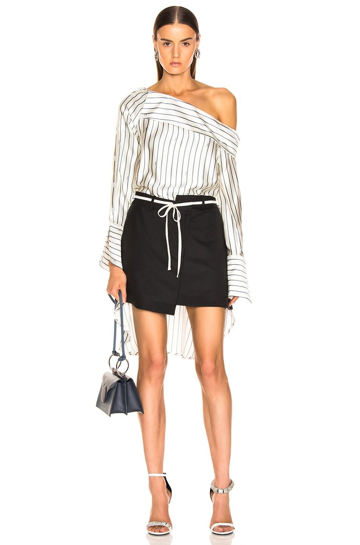 Image 5 of Monse Shirt Back Skirt in Black