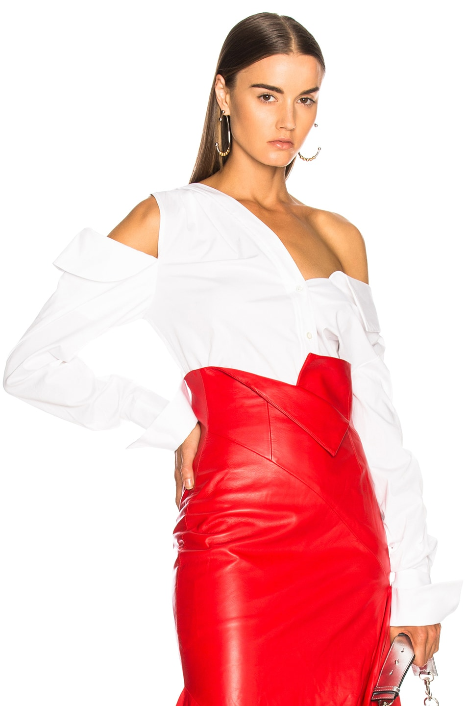 Image 1 of Monse for FWRD Cotton Shirt in White