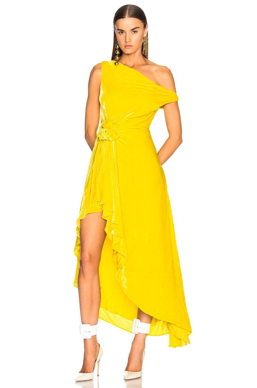Image 1 of Monse Velvet Hi Lo Top in Yellow
