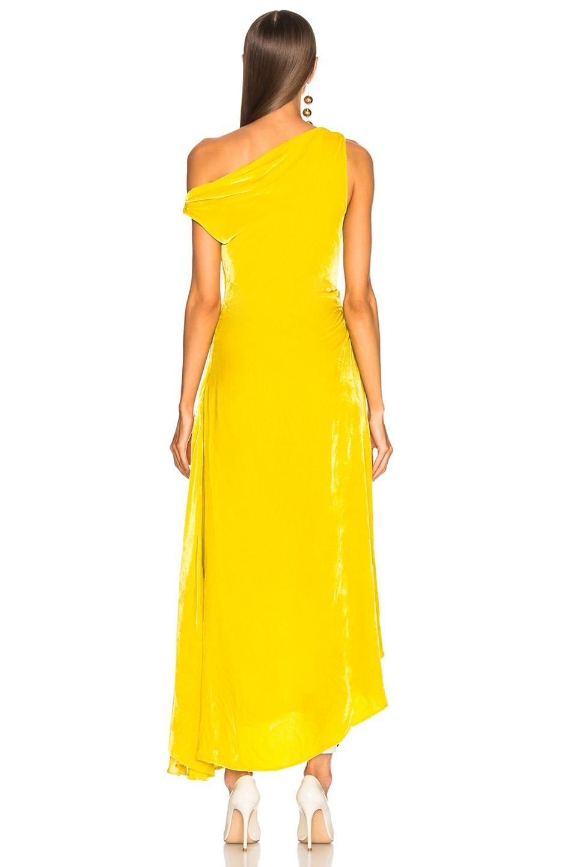 Image 5 of Monse Velvet Hi Lo Top in Yellow
