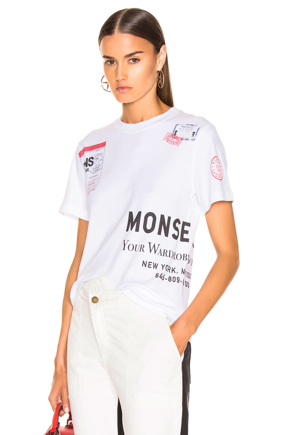 Image 1 of Monse Stamp Tee in White