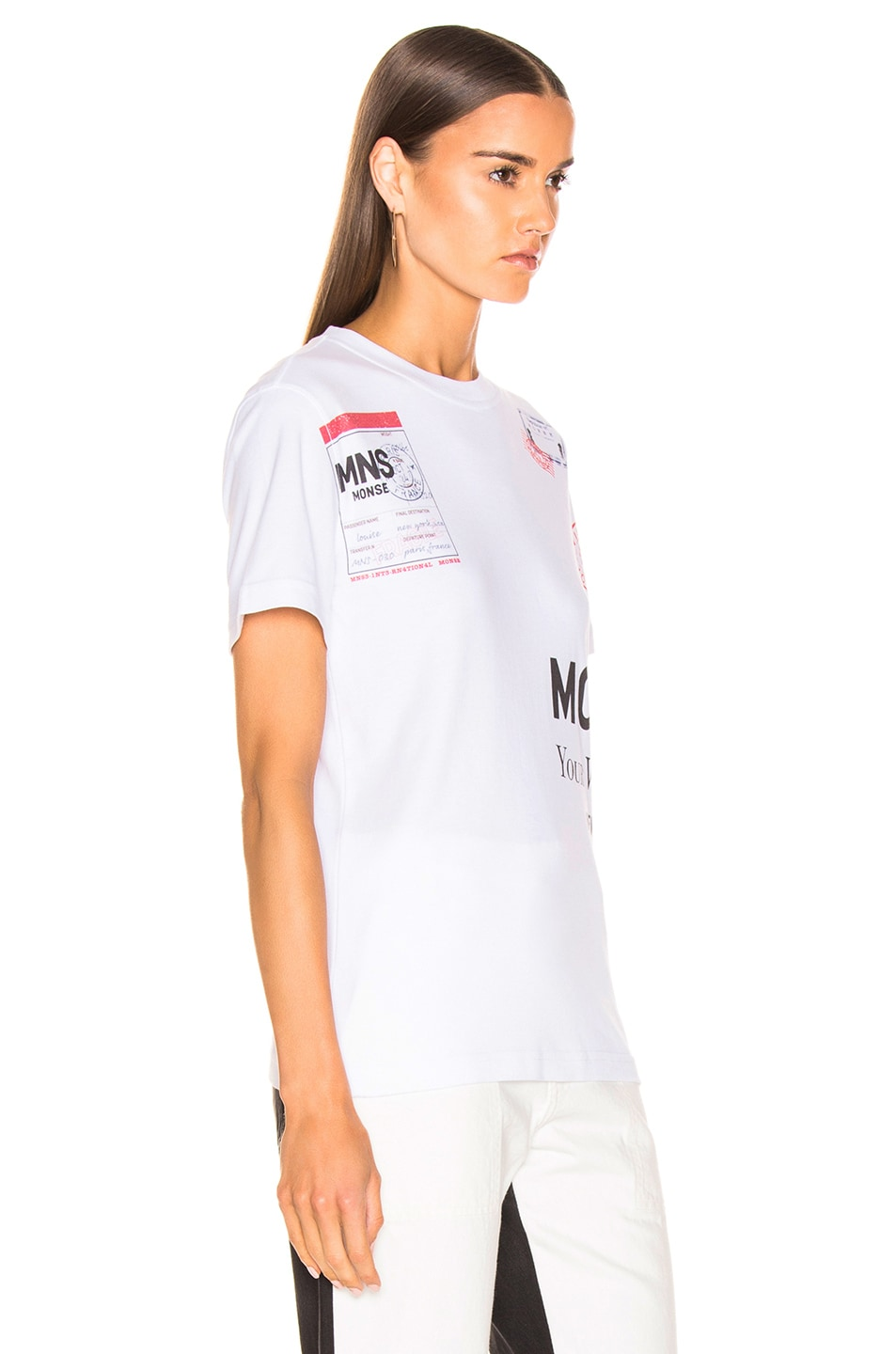 Image 2 of Monse Stamp Tee in White