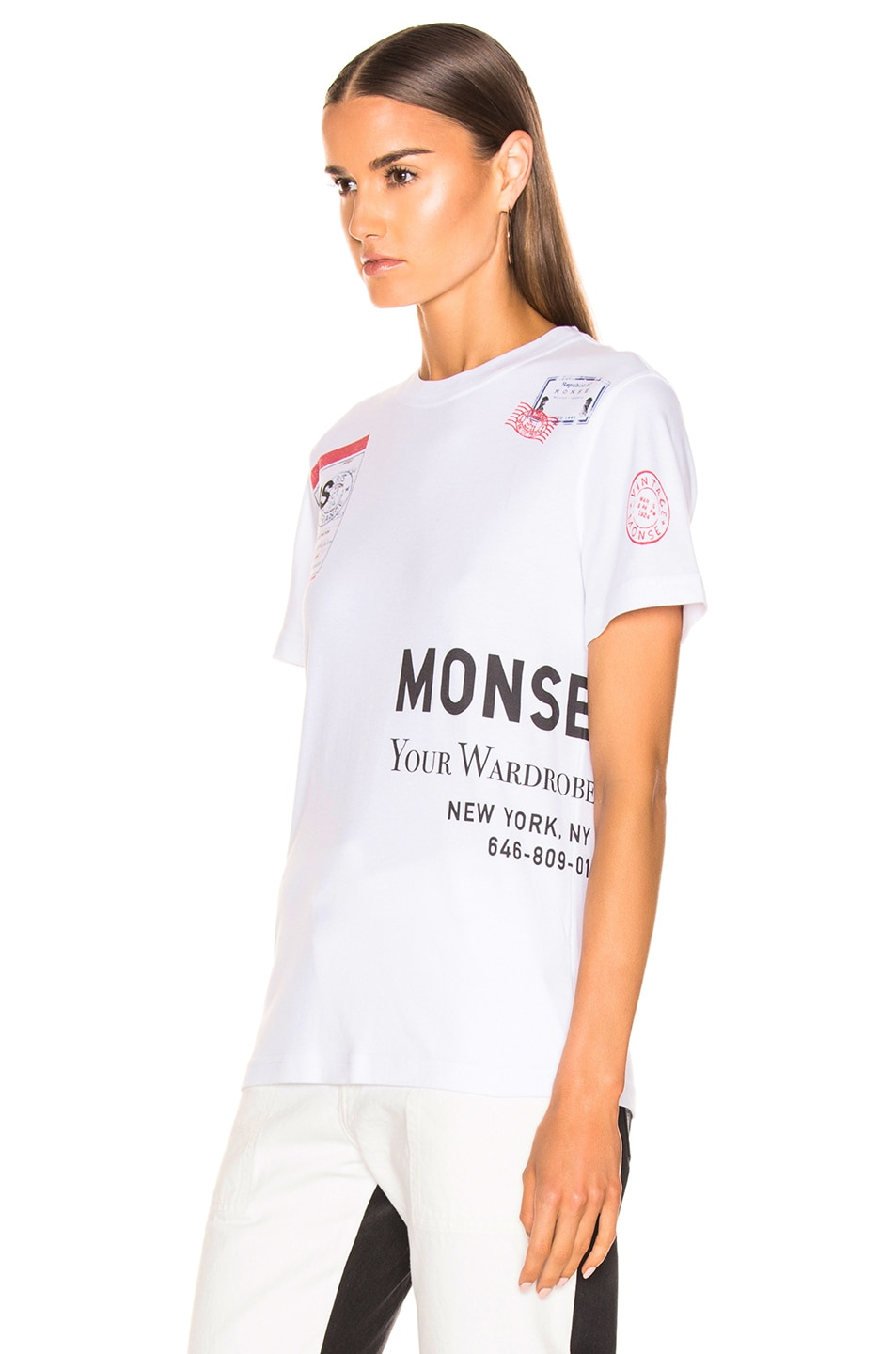 Image 3 of Monse Stamp Tee in White