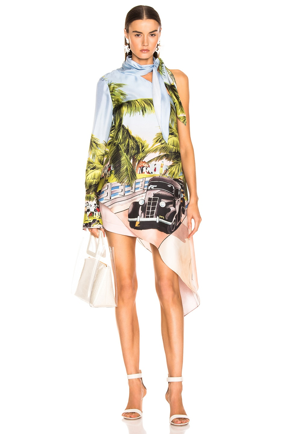 Image 1 of Monse Scenic Print One Shoulder Top in Multi