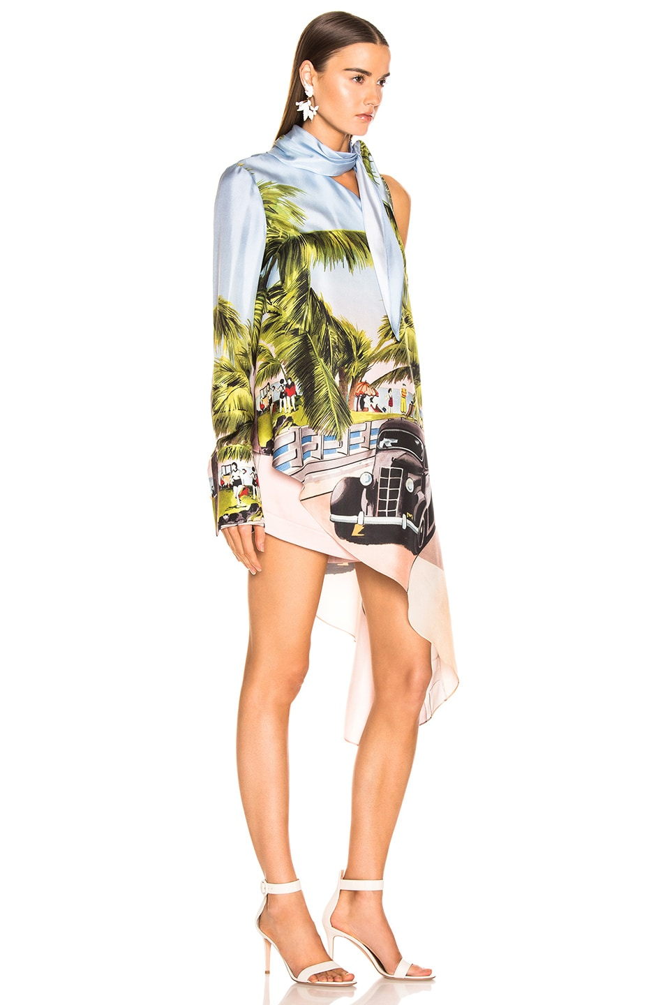 Image 2 of Monse Scenic Print One Shoulder Top in Multi
