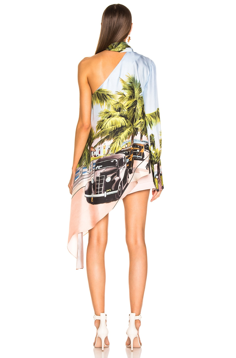 Image 3 of Monse Scenic Print One Shoulder Top in Multi