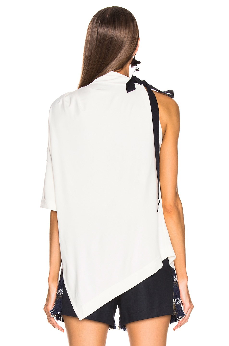 Image 4 of Monse Asymmetrical Halter Tee in Ivory