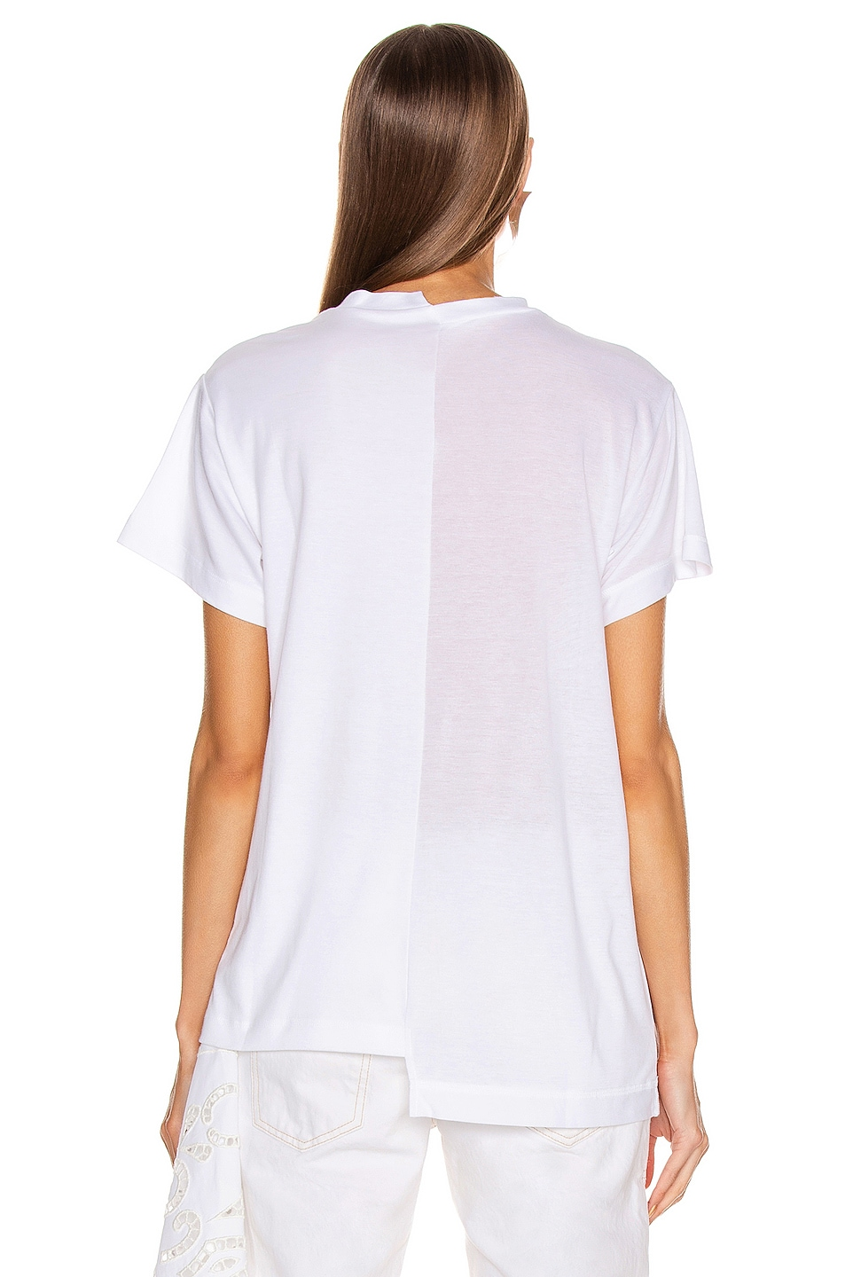 Image 5 of Monse Split Louise Lace Printed Tee in White