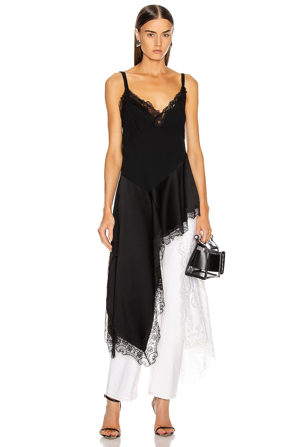 Image 2 of Monse Negligee Lace Top in Black