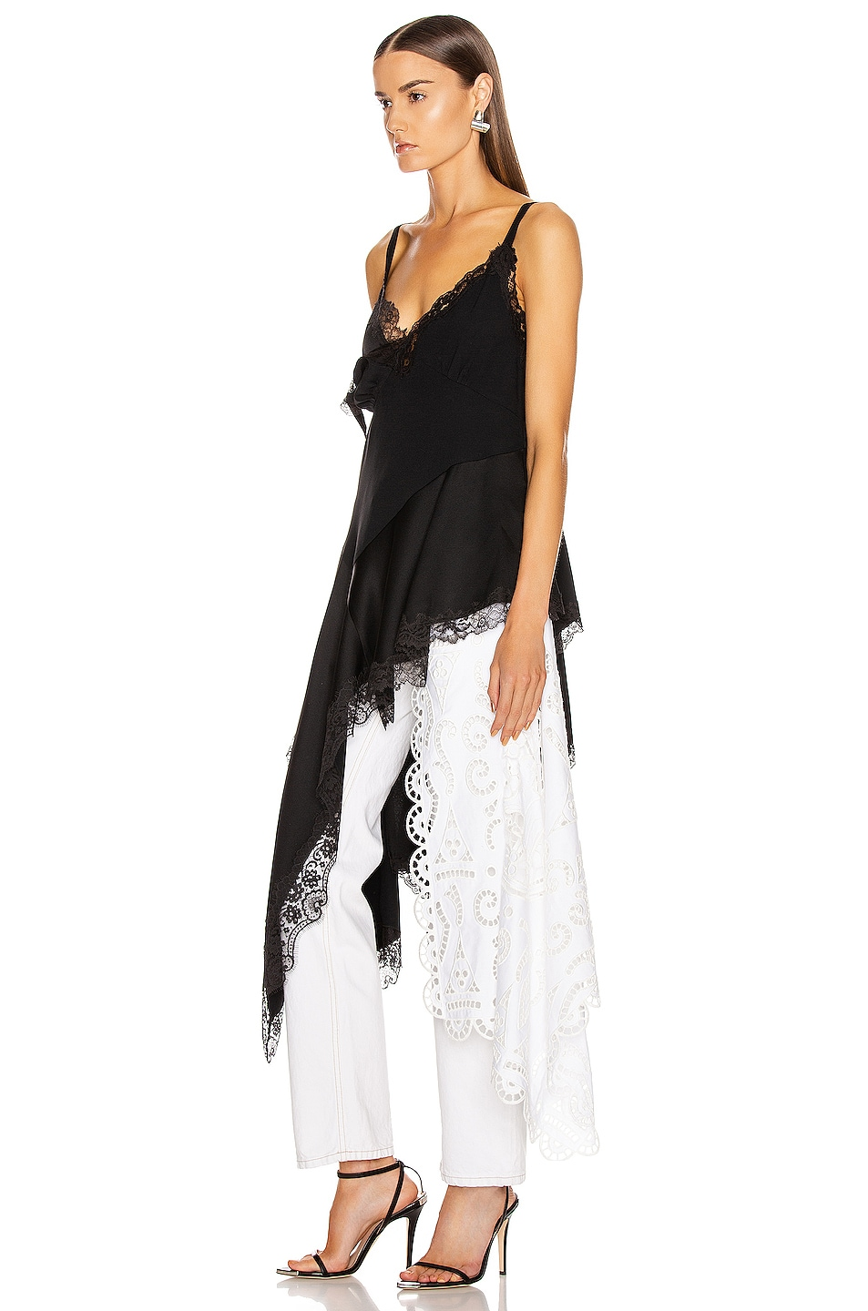 Image 4 of Monse Negligee Lace Top in Black
