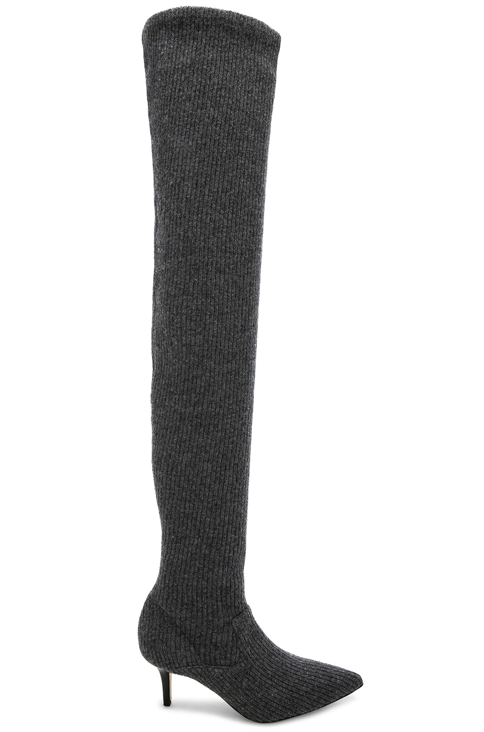 Image 1 of Monse Thigh High Sock Boots in Grey