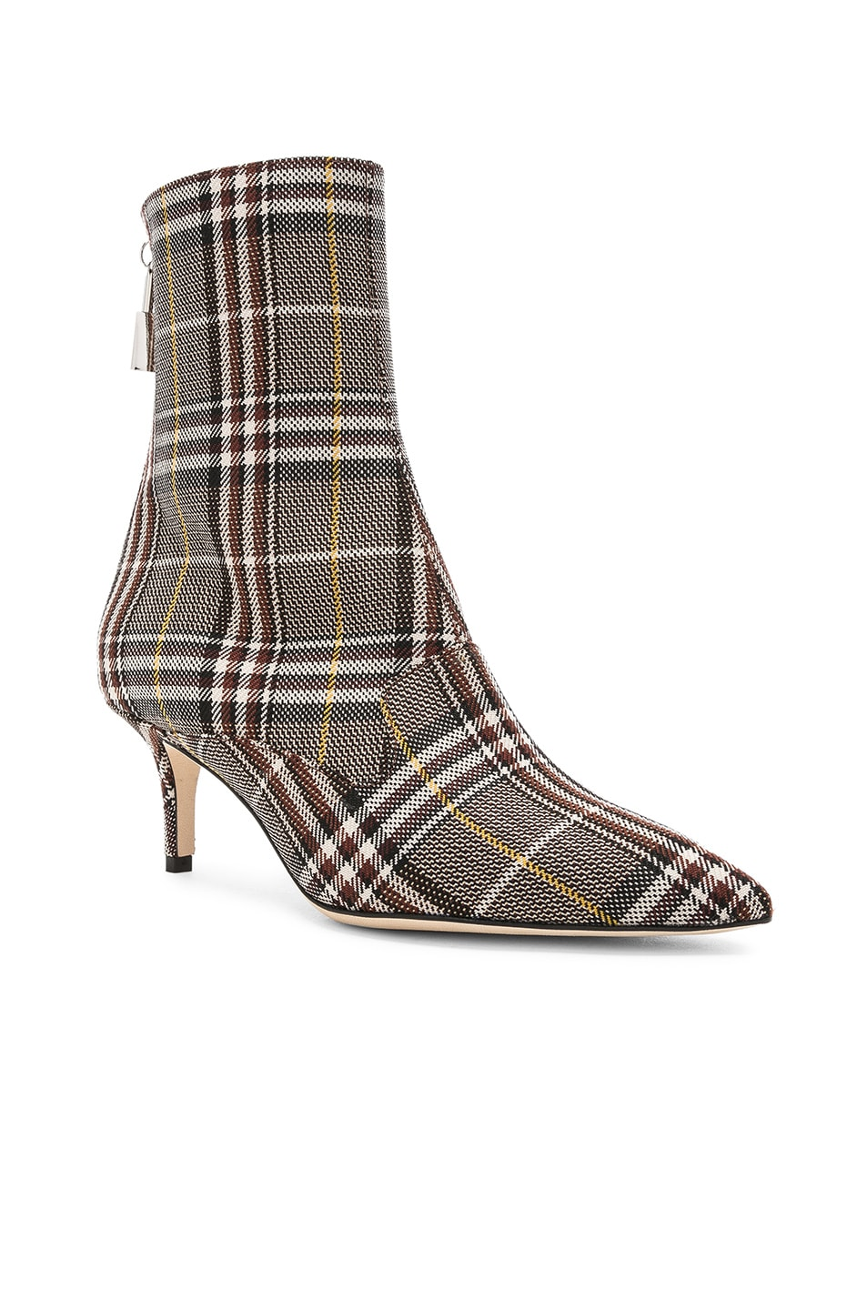 Image 2 of Monse Lock Booties in Plaid Charcoal
