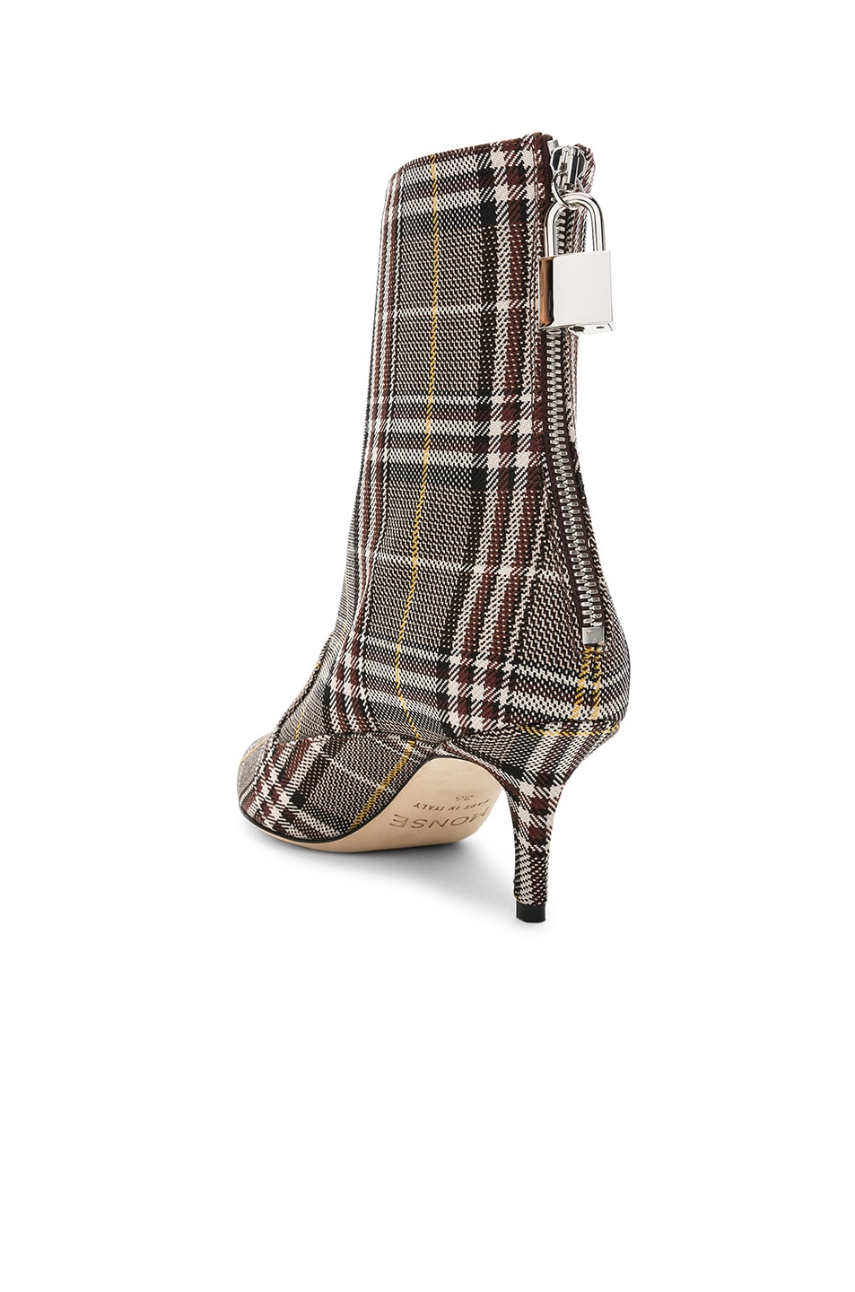 Image 3 of Monse Lock Booties in Plaid Charcoal