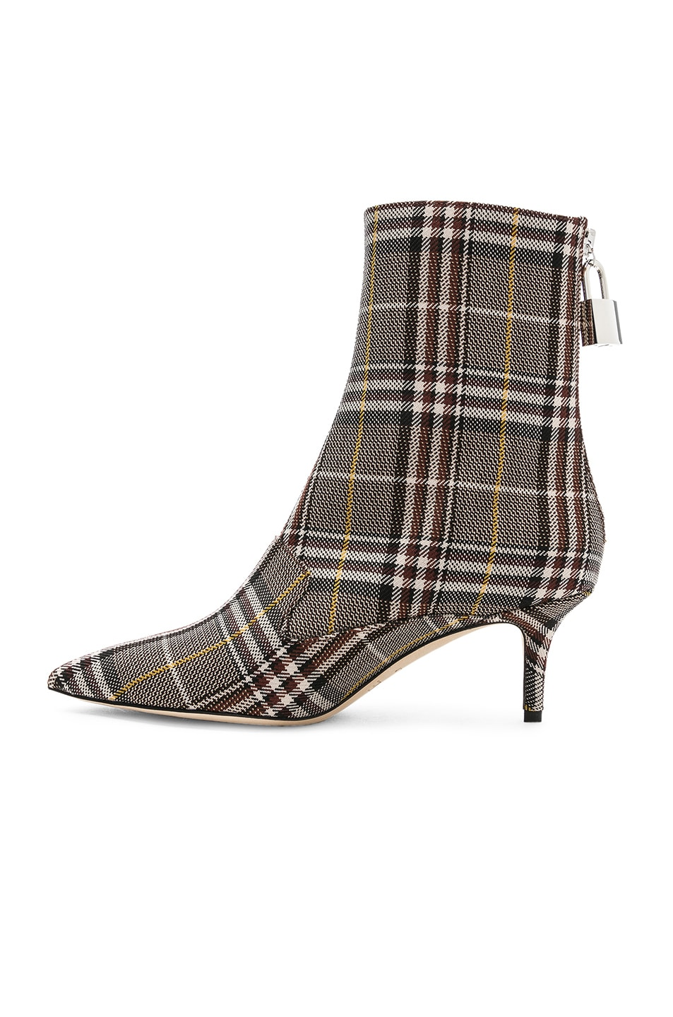 Image 5 of Monse Lock Booties in Plaid Charcoal