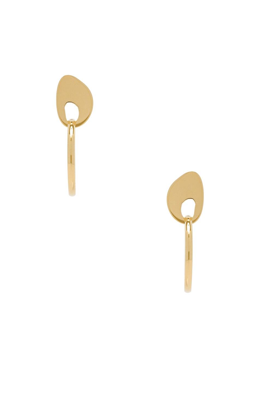 Image 1 of Modern Weaving Hoop Earrings in Gold