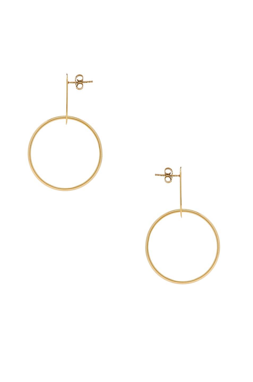 Image 2 of Modern Weaving Hoop Earrings in Gold