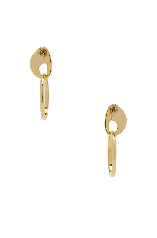 Image 3 of Modern Weaving Hoop Earrings in Gold