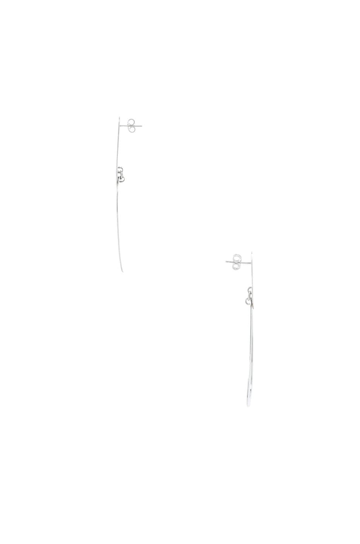 Image 2 of Modern Weaving Earthen Layers Earrings in Silver