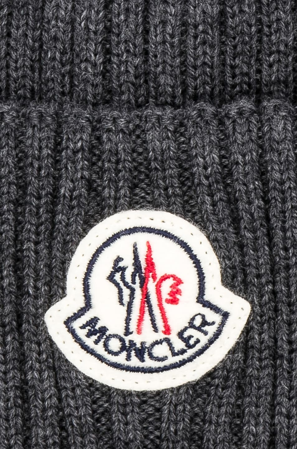 Image 3 of Moncler Beanie in Grey