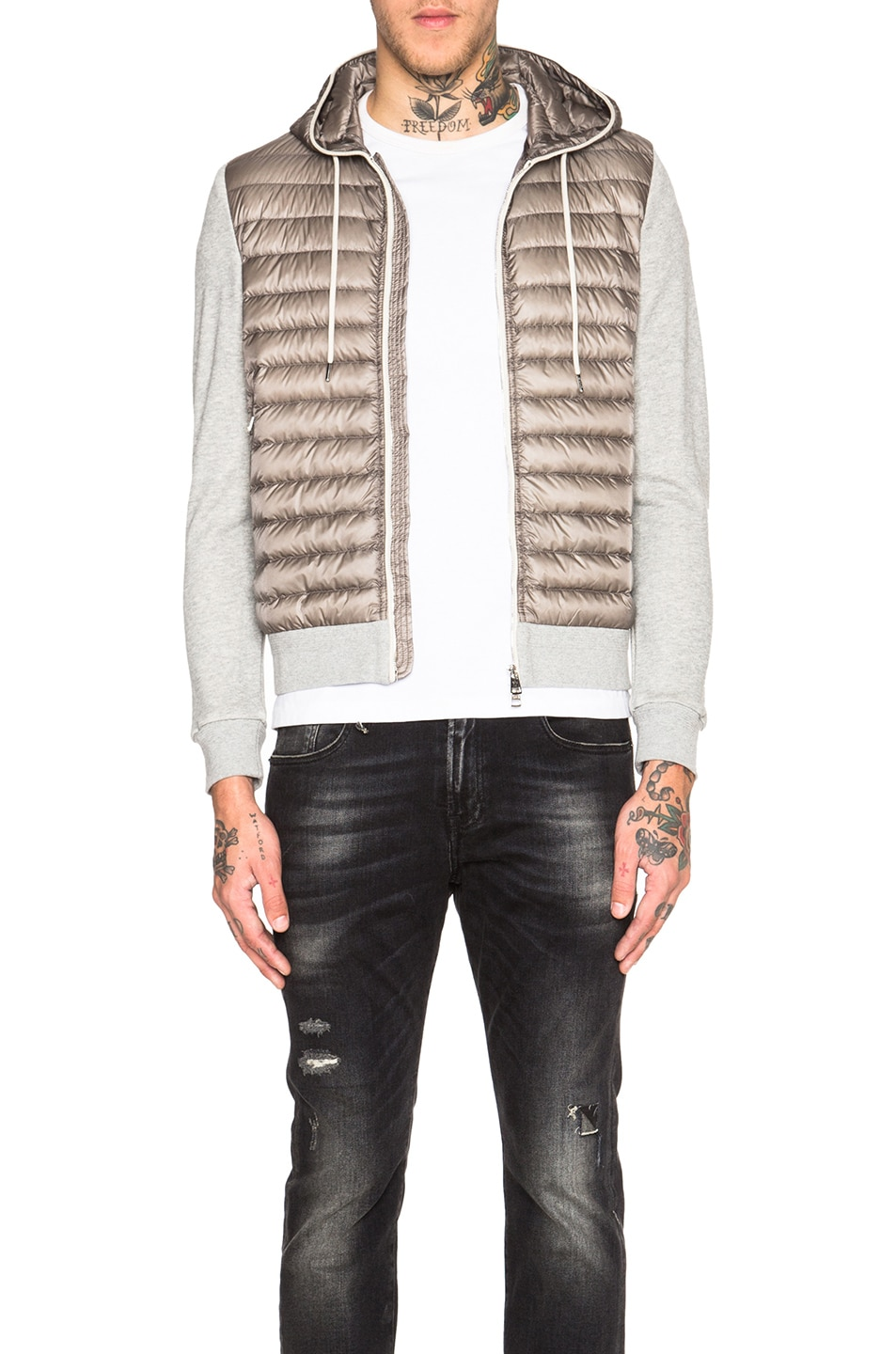 Image 1 of Moncler Maglia Cardigan Jacket in Grey d7b8b3a252f