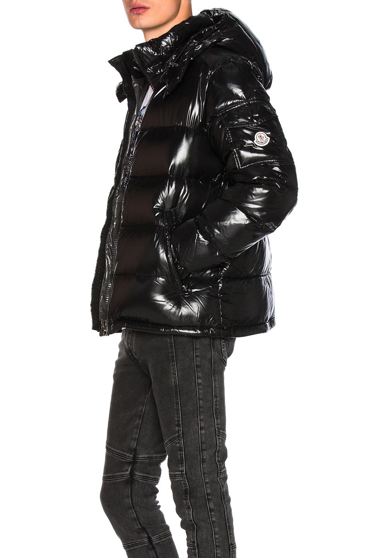 moncler black maya jacket