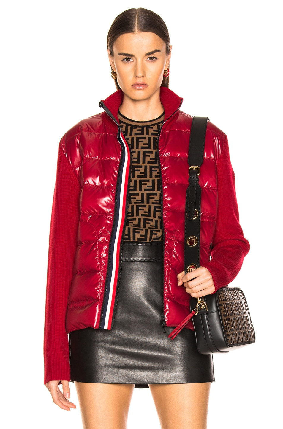 Image 1 of Moncler Bubble Track Jacket in Red
