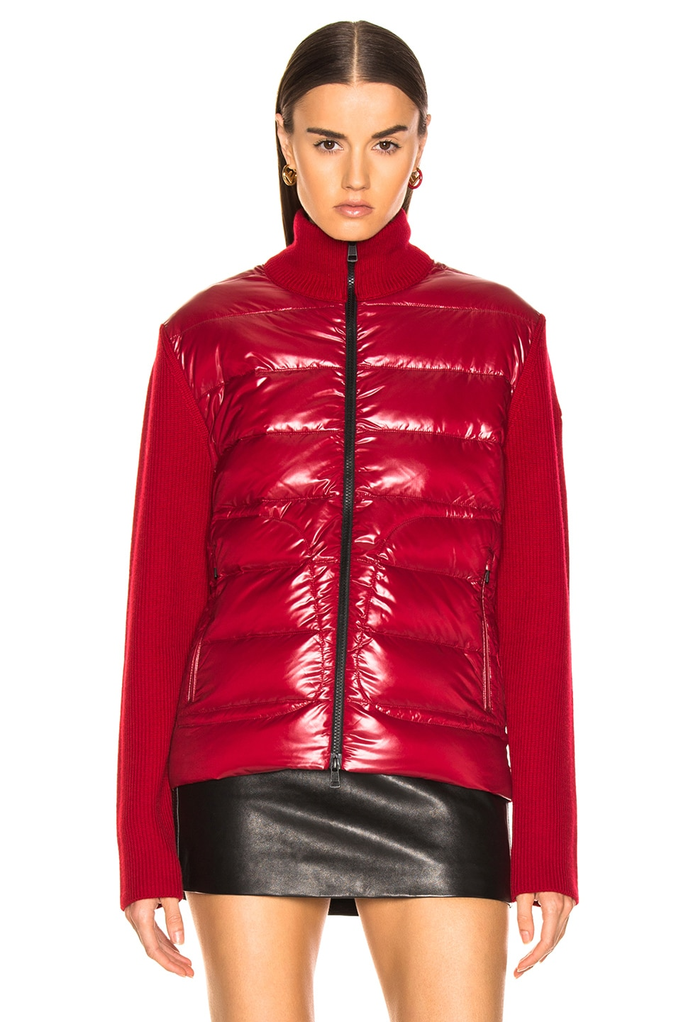 Image 2 of Moncler Bubble Track Jacket in Red