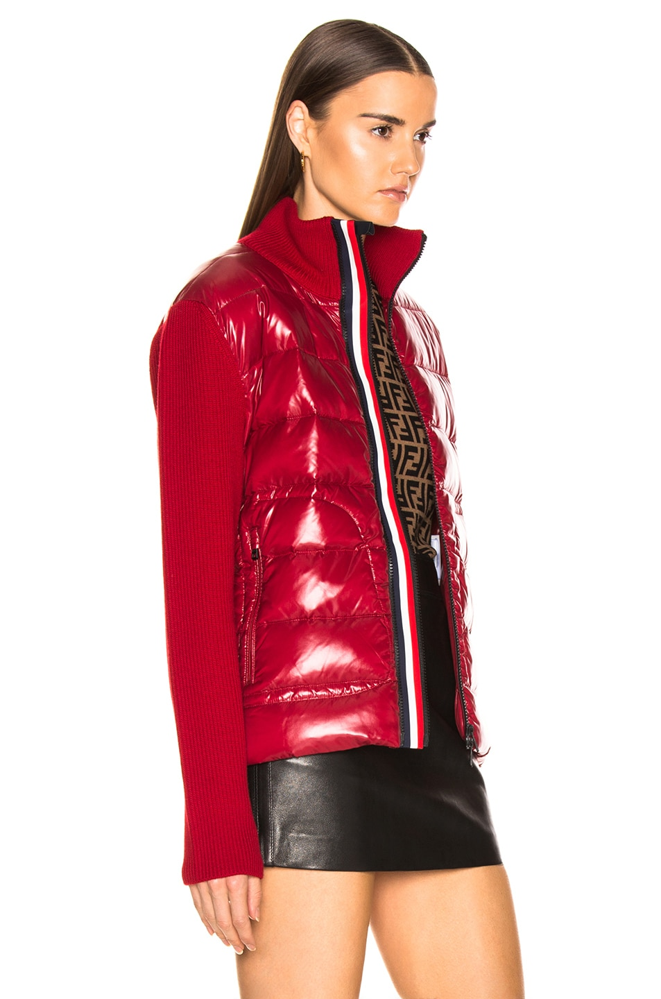 Image 3 of Moncler Bubble Track Jacket in Red