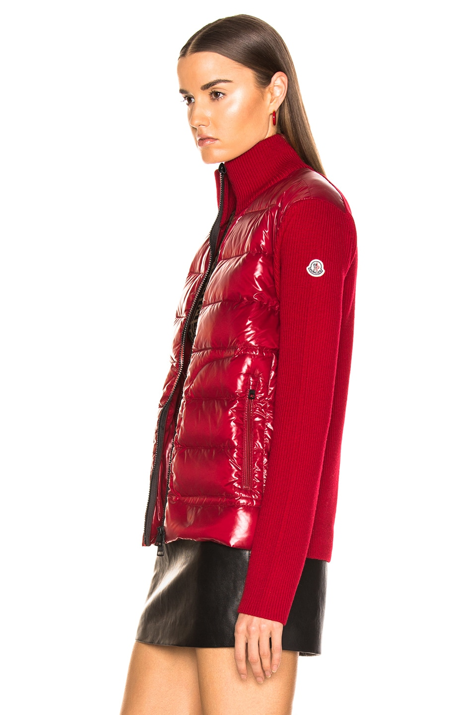 Image 4 of Moncler Bubble Track Jacket in Red