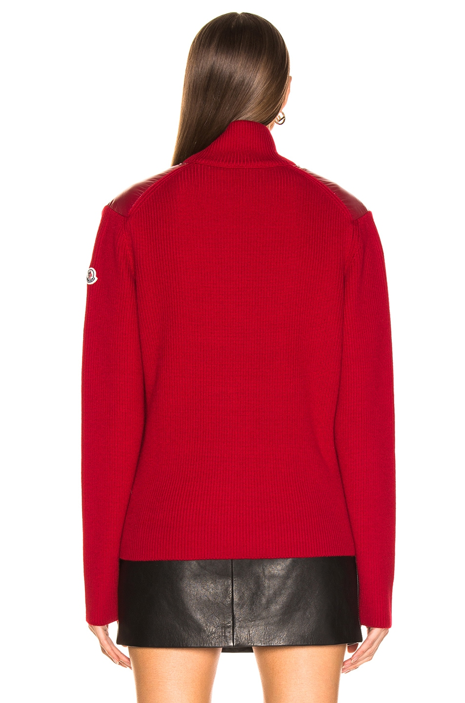 Image 5 of Moncler Bubble Track Jacket in Red