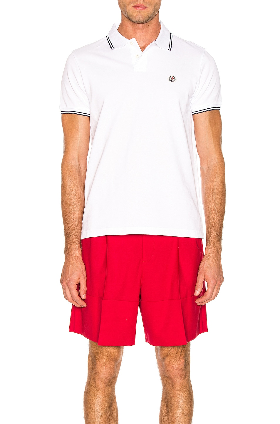 Image 1 of Moncler Logo Polo in White