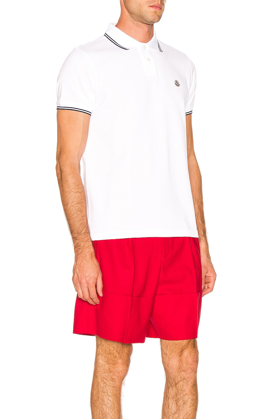 Image 3 of Moncler Logo Polo in White