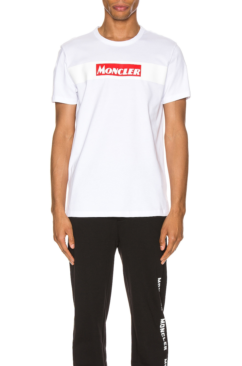 Image 1 of Moncler Maglia Tee in White