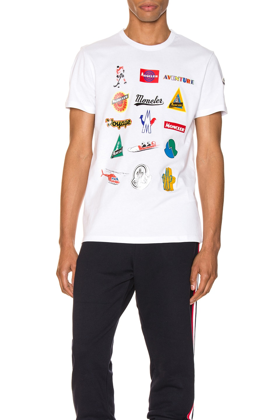 Image 1 of Moncler Graphic Tee in White