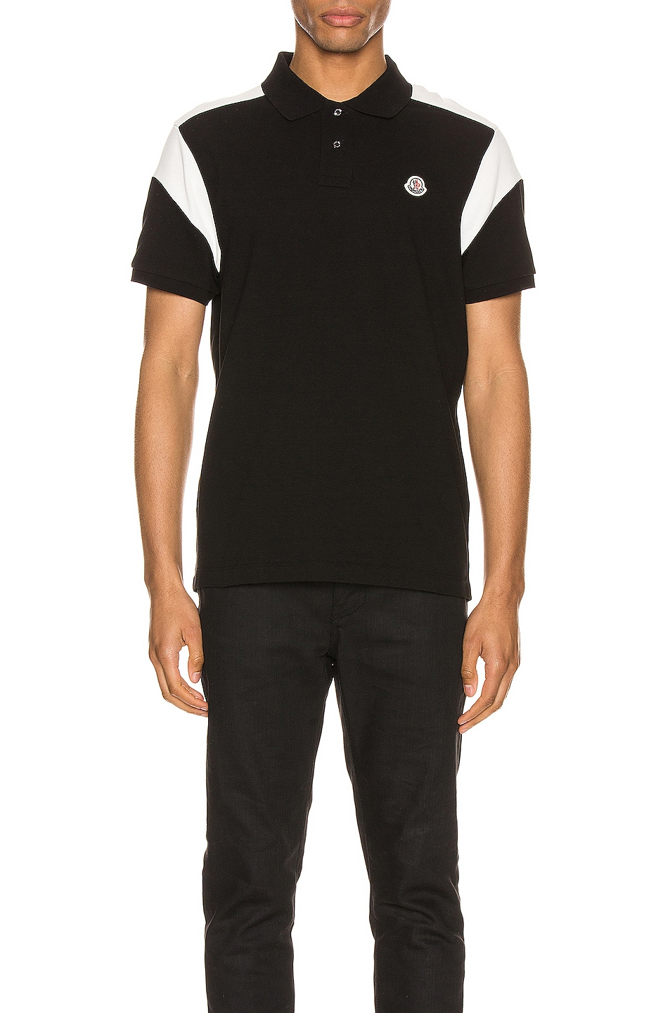 Image 1 of Moncler Polo in Black