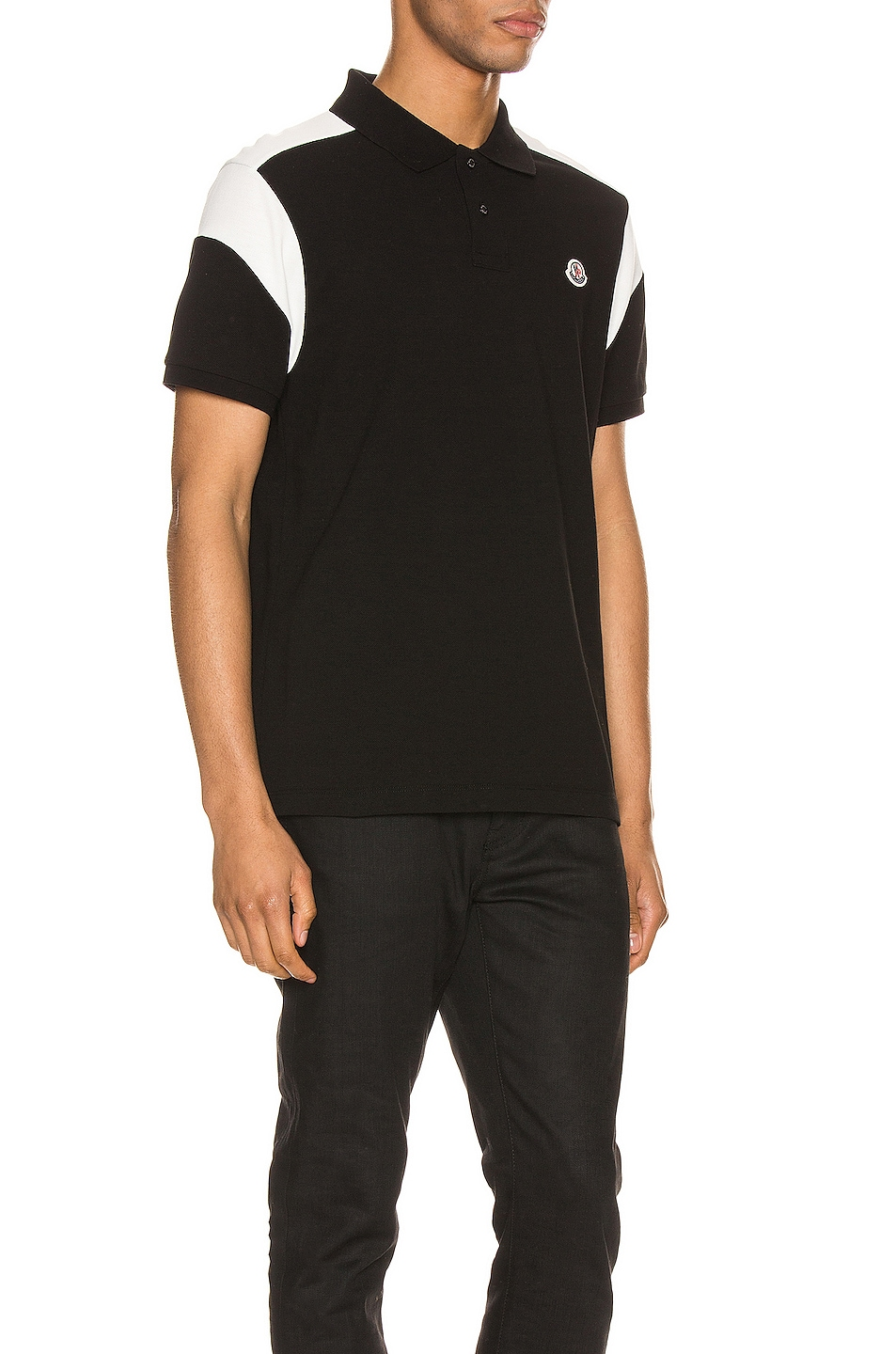 Image 2 of Moncler Polo in Black