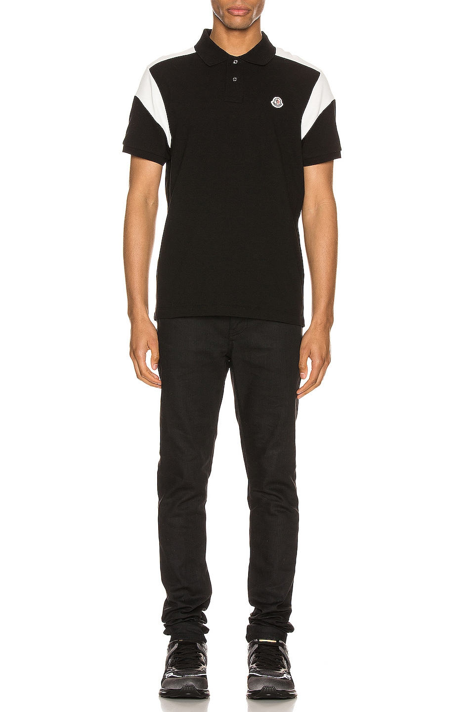 Image 4 of Moncler Polo in Black