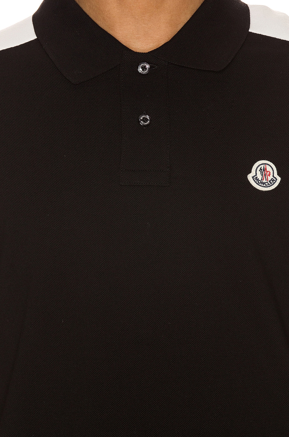 Image 5 of Moncler Polo in Black