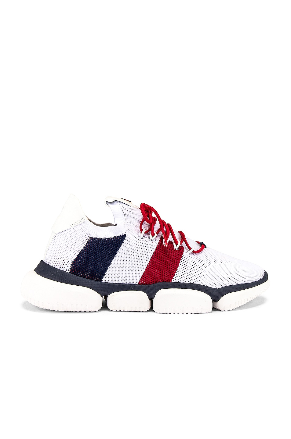 Image 1 of Moncler Low Top Sneaker in Red & White & Blue