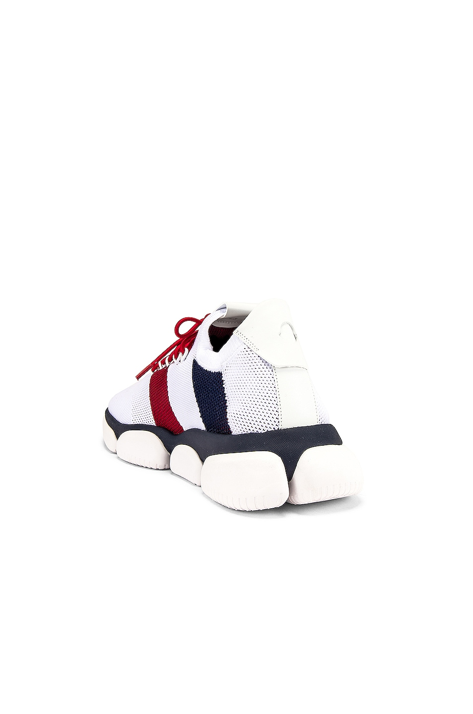 Image 3 of Moncler Low Top Sneaker in Red & White & Blue