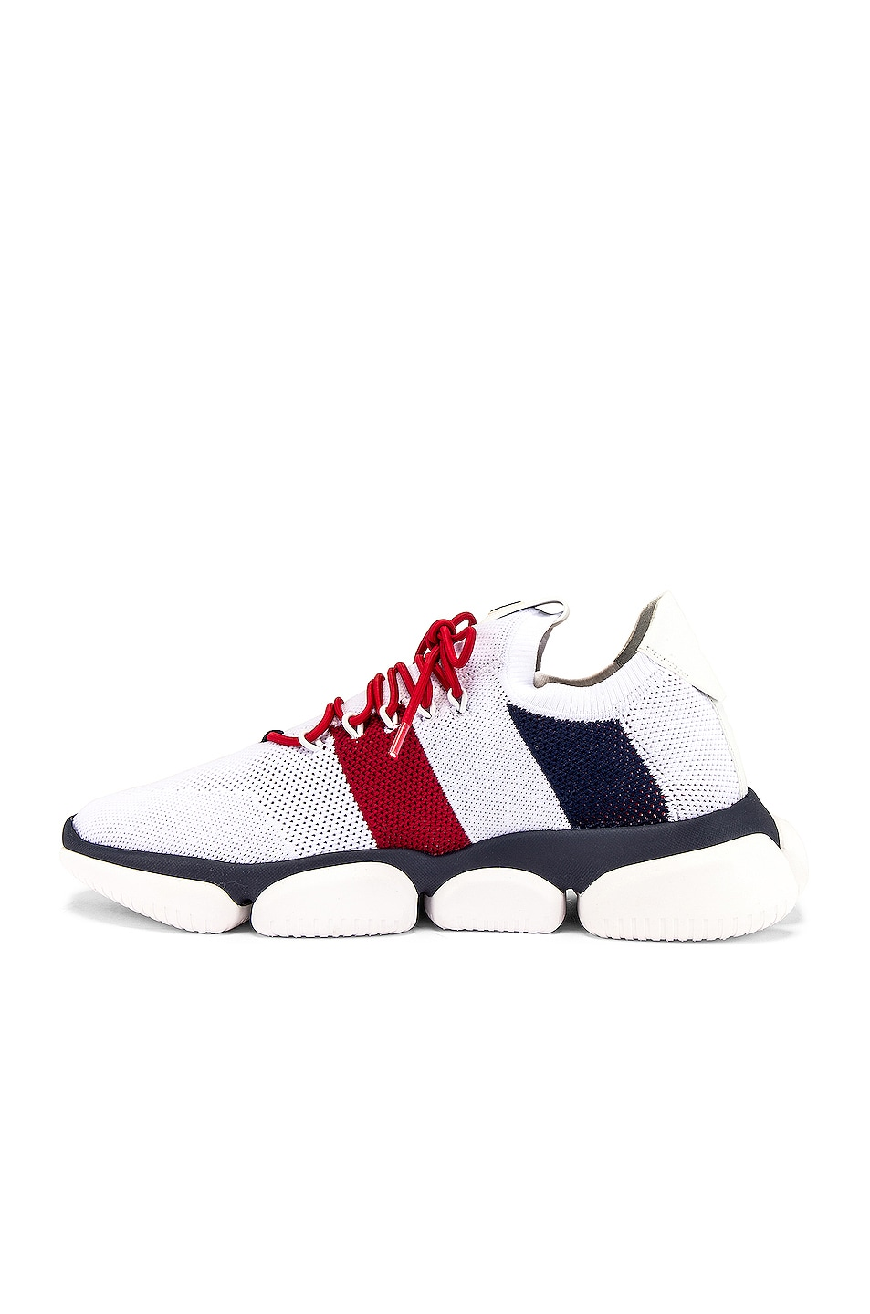 Image 5 of Moncler Low Top Sneaker in Red & White & Blue