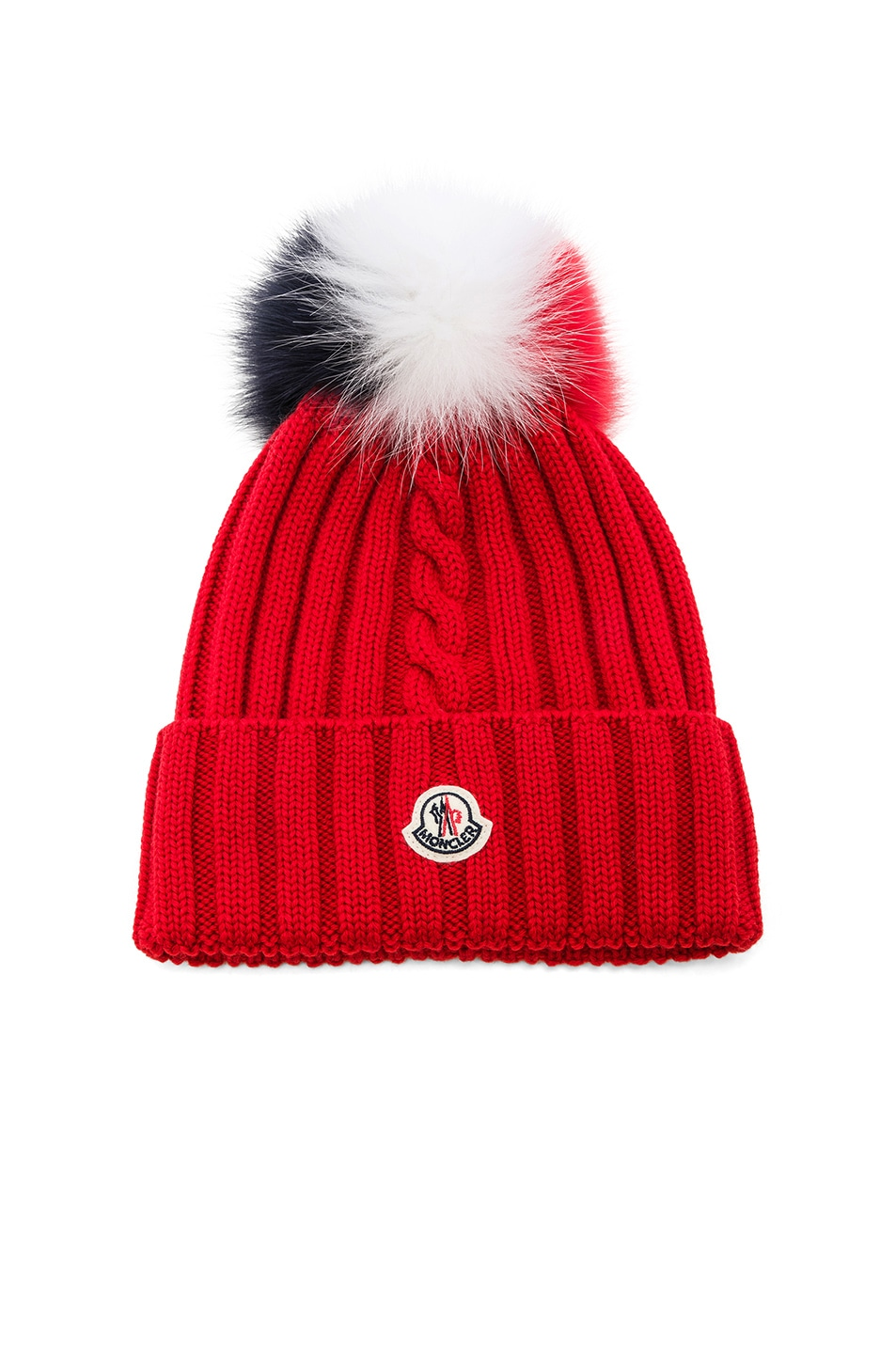 Image 1 of Moncler Beanie in Red