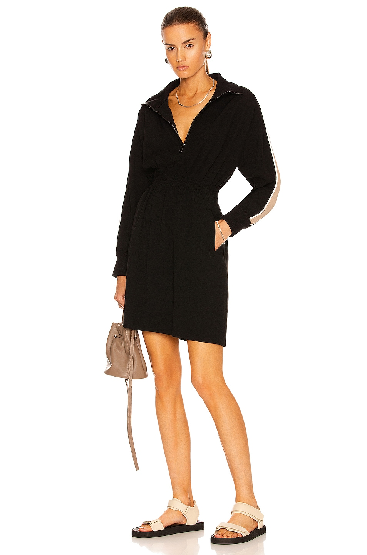 Image 1 of Moncler Half Zip Mini Dress in Black