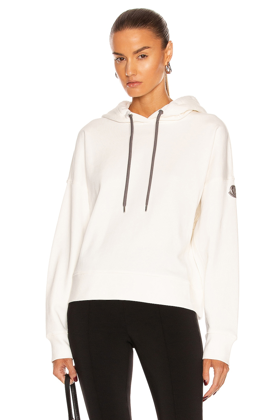 Image 1 of Moncler Hooded Sweatshirt in White
