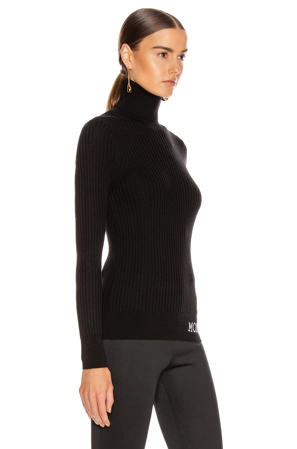 Image 2 of Moncler Tricot Cyclist Sweater in Black